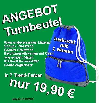 Turnbeutel Aug