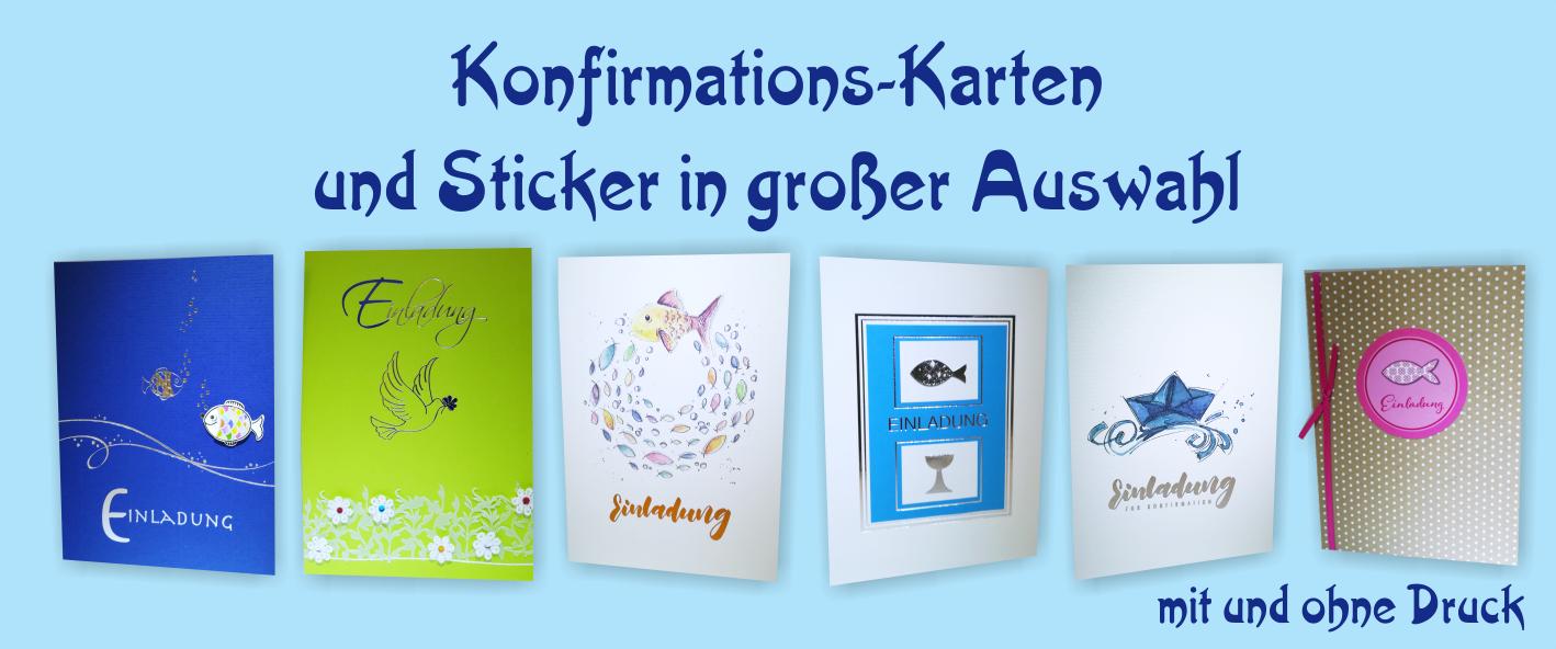 Slider, Konfirmation, Karten und Sticker in großer Auswahl, individuell gestaltet