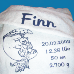 bedrucktes Handtuch